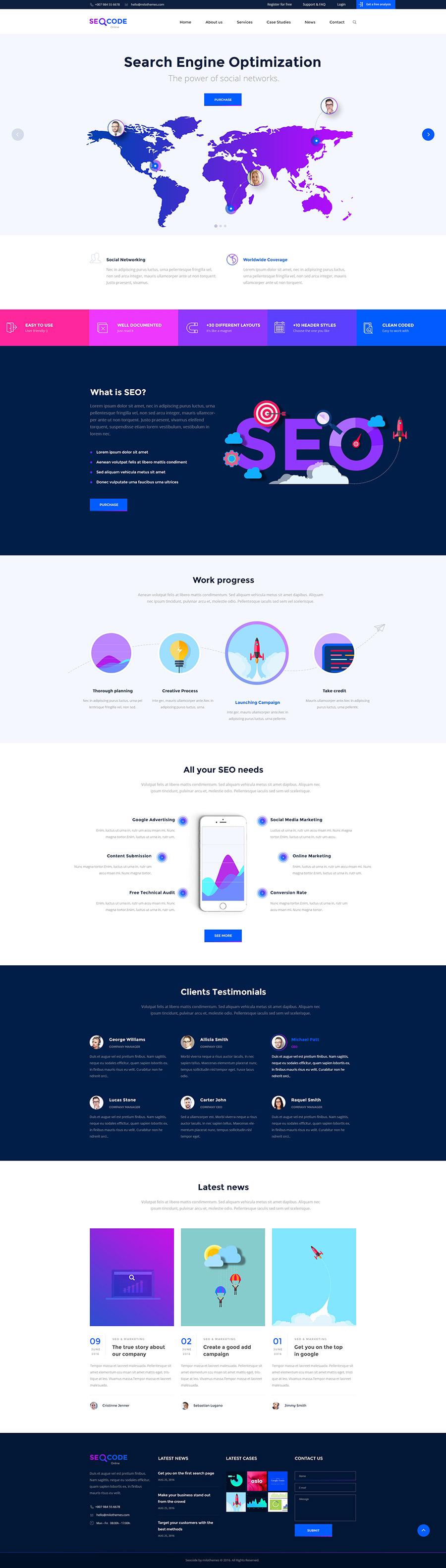 thiết kế website công ty chuyên SEO, tru