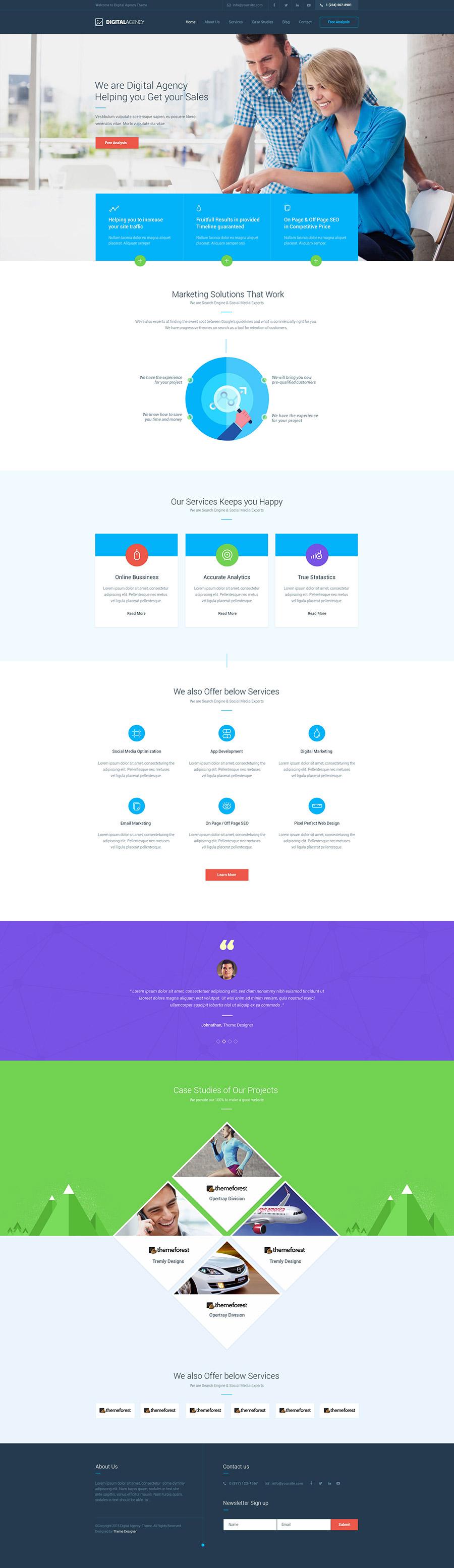 thiết kế website công ty truyền thông số