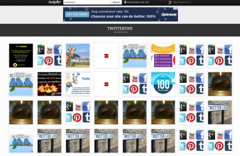 TwiPho cho phép bạn tìm kiếm những hình ảnh có gắn hashtag trên Twitter