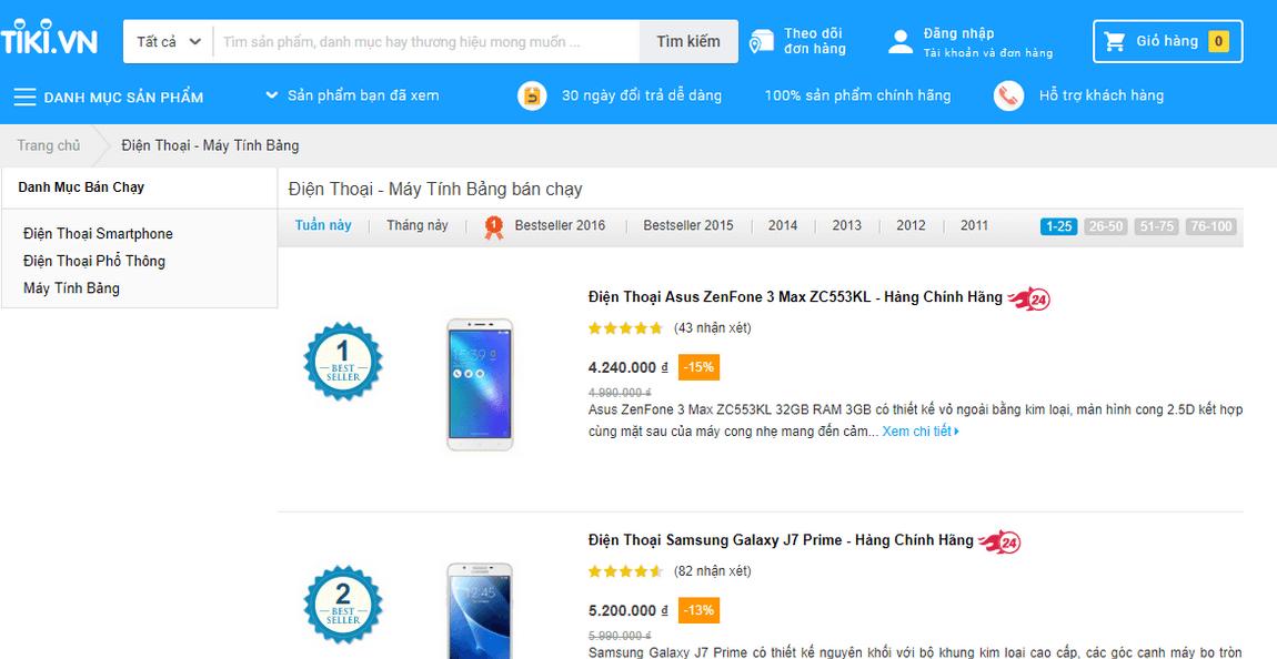 công ty thuong mại điện tử tiki.vn