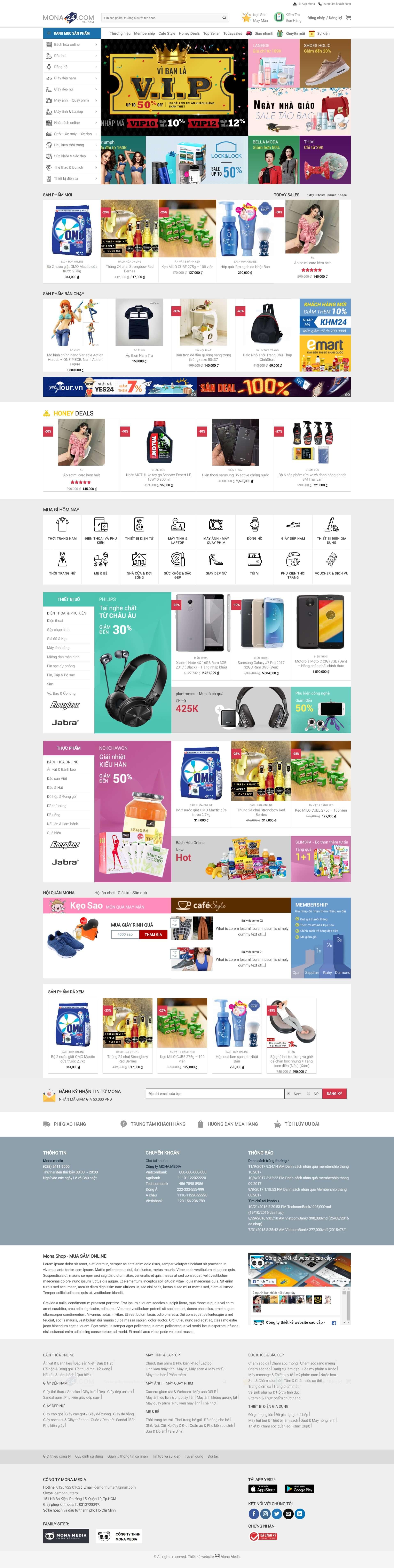 Mẫu Website Bán Hàng Siêu Thị Giống Yes24