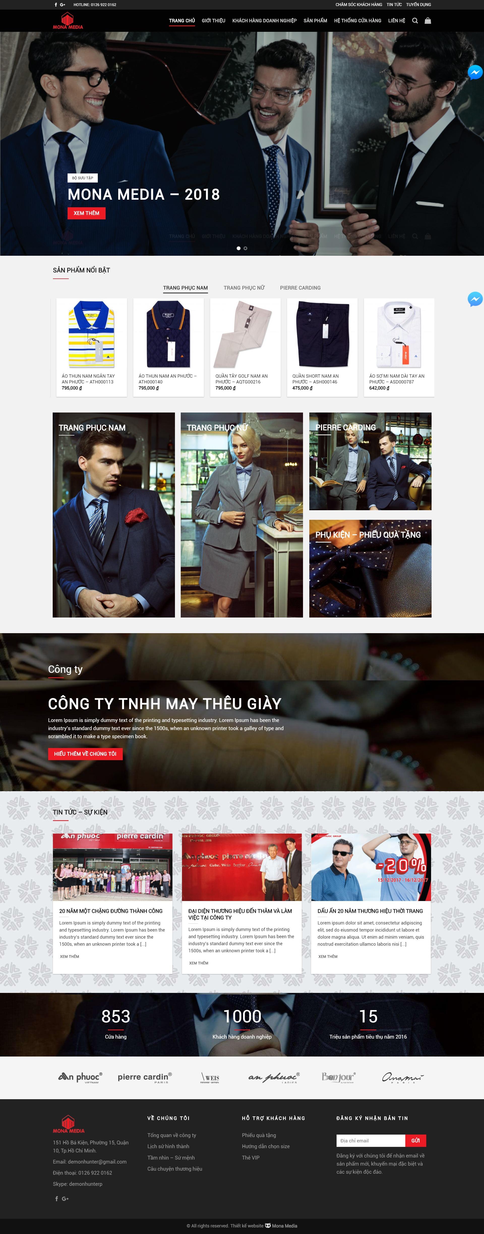 Mẫu website bán hàng thời trang quần áo