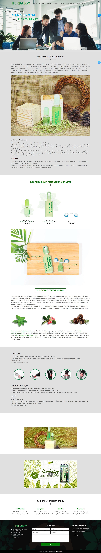 Mẫu website landing page giới thiệu sản phẩm dầu thảo dược Herbalgy