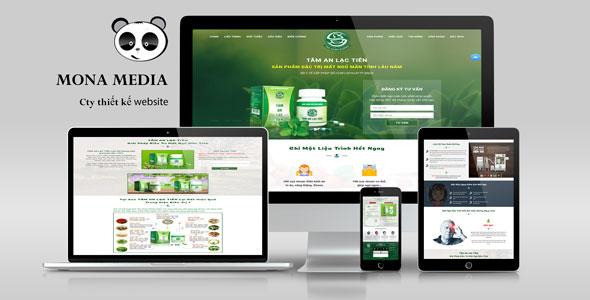 Mẫu website giới thiệu sản phẩm thảo được tự nhiên Tâm An Lạc Viên