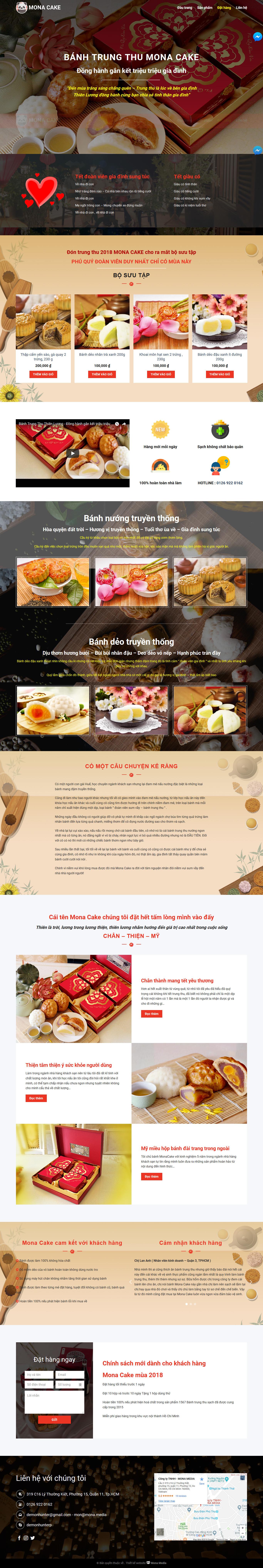Mẫu website landing page giới thiệu bánh trung thu