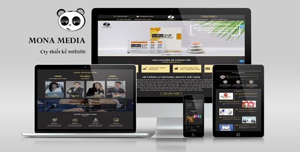 Mẫu website landing page giới thiệu thực phẩm chức năng lpnatural beauty
