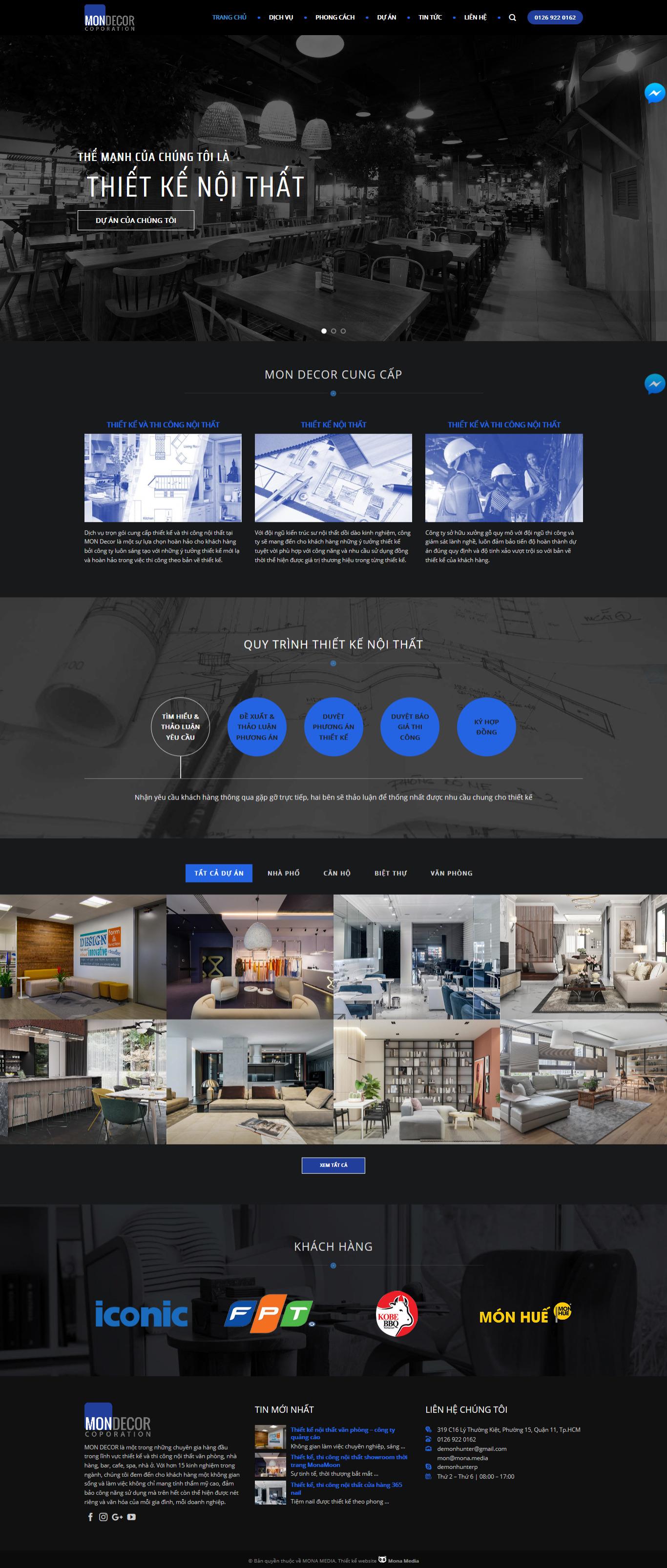 Mẫu website thiết kế nội thất giống adtdecor
