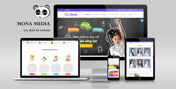 Mẫu website kidsworld.
