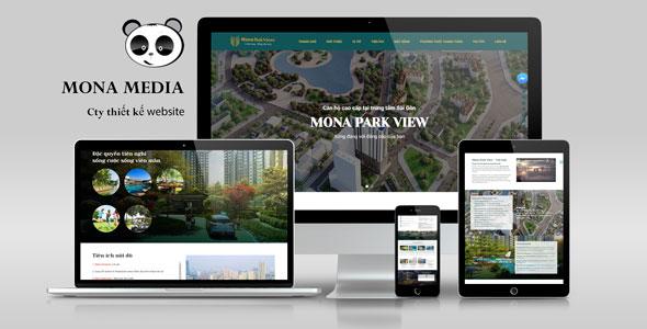 Mẫu website bất động sản giống Luxury ParkView.