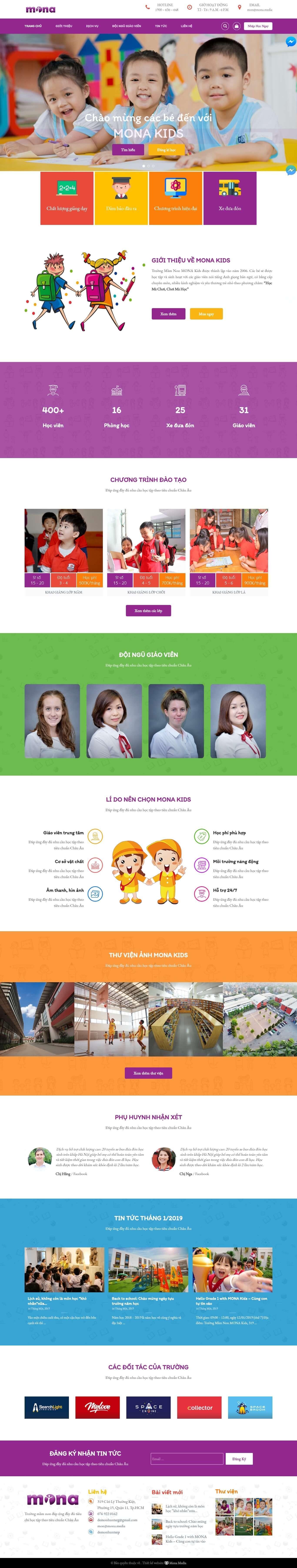 Thiết kế website trường học.