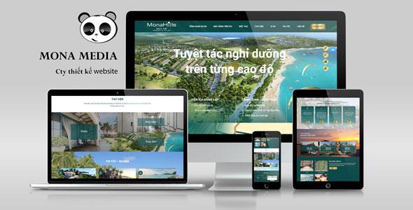 Mẫu landing page giới thiệu resort - villa cao cấp ở Mũi Né giống Novahills.