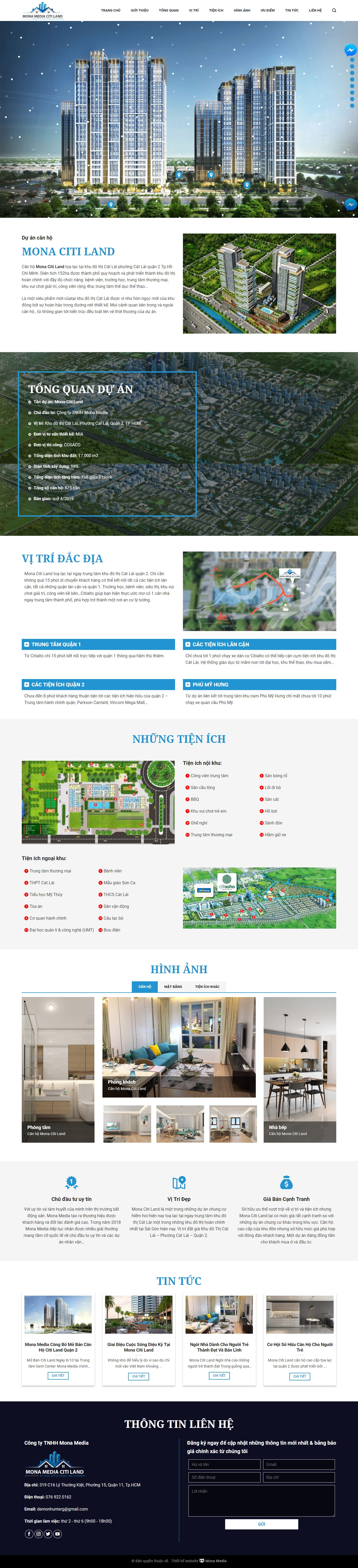 Mẫu website Citialto.