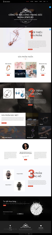 Mẫu website bán trang sức cao cấp Custommade.