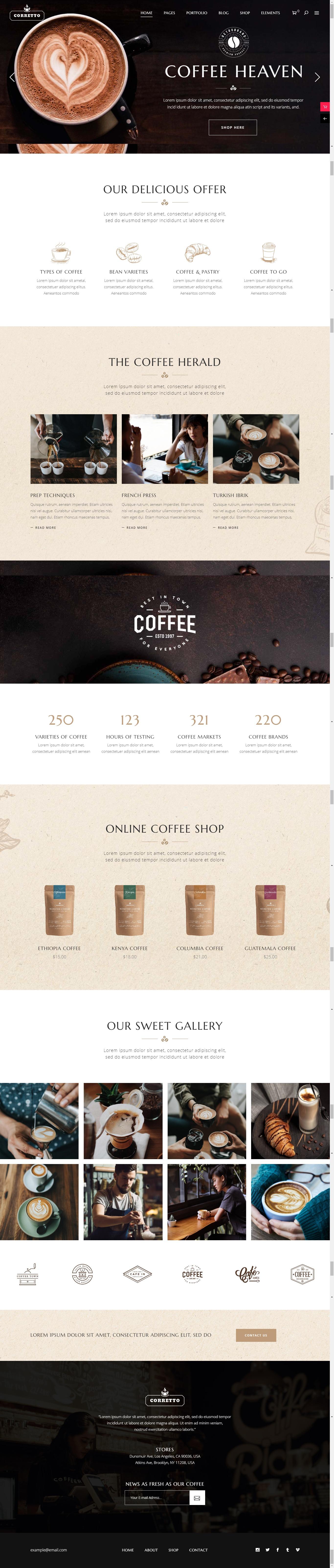 Thiết kế website cho cửa hàng cafe - tiệm trà.