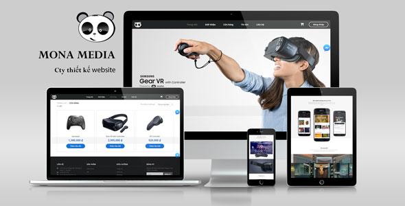 Mẫu website bán kính thực tế ảo VR.
