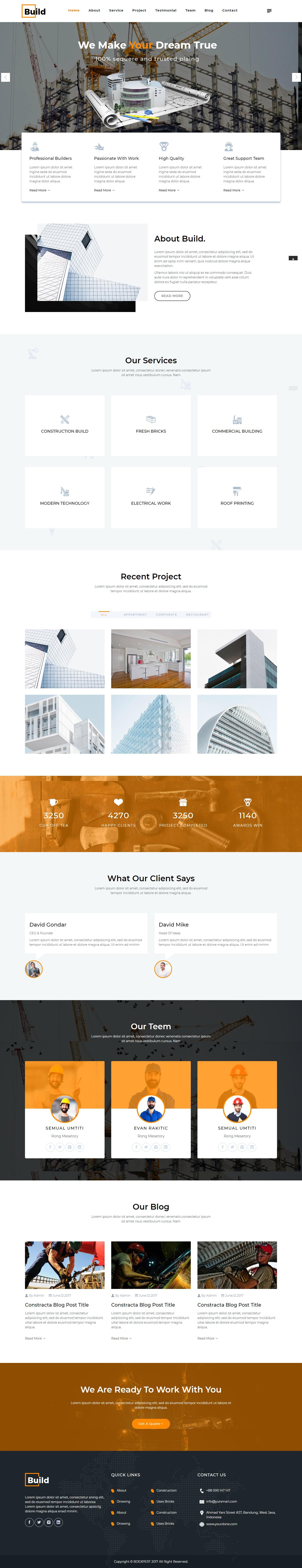 Thiết kế website công ty xây dựng - cung cấp vật tư - kiểm định công trình.