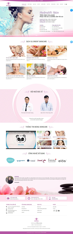 Mẫu website giới thiệu trung tâm điều trị và chăm sóc da giống Orientskin