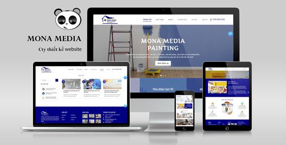 Mẫu website thi công sơn nội ngoại thất.