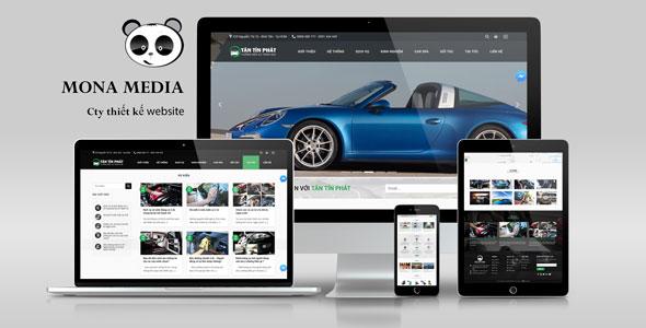 Mẫu website giống Tân Tín Phát.