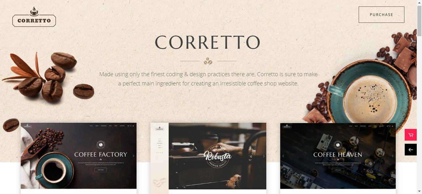 thiết kế website shop cà phê