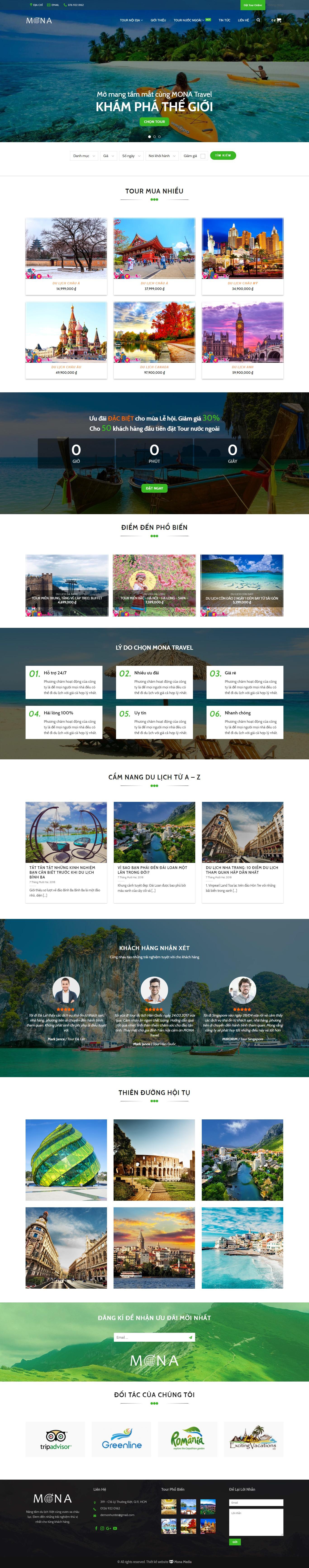 Mẫu website du lịch nội địa – nước ngoài giao diện tương tự Trabble
