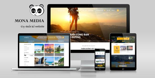 Mẫu website tour du lịch nội địa - nước ngoài.