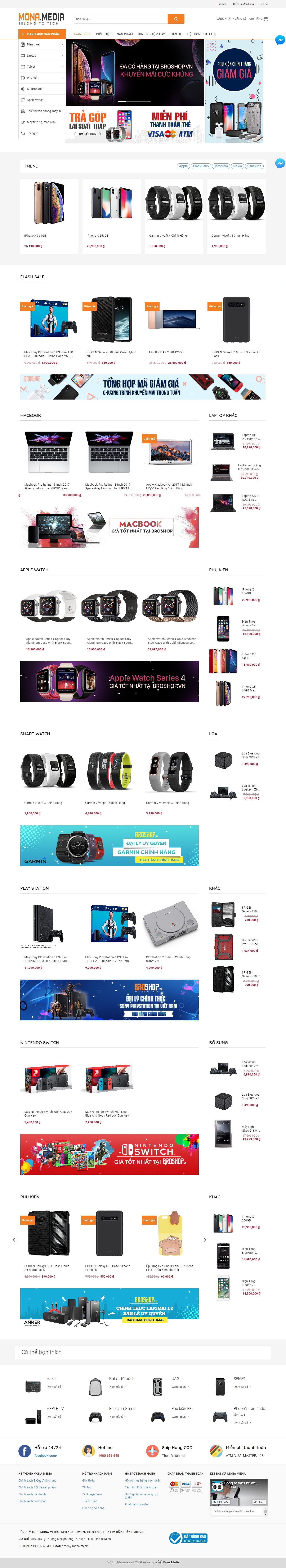 Mẫu website bán hàng công nghệ Broshop