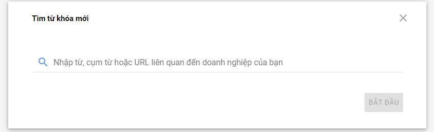 Nhập từ khóa hoặc URL