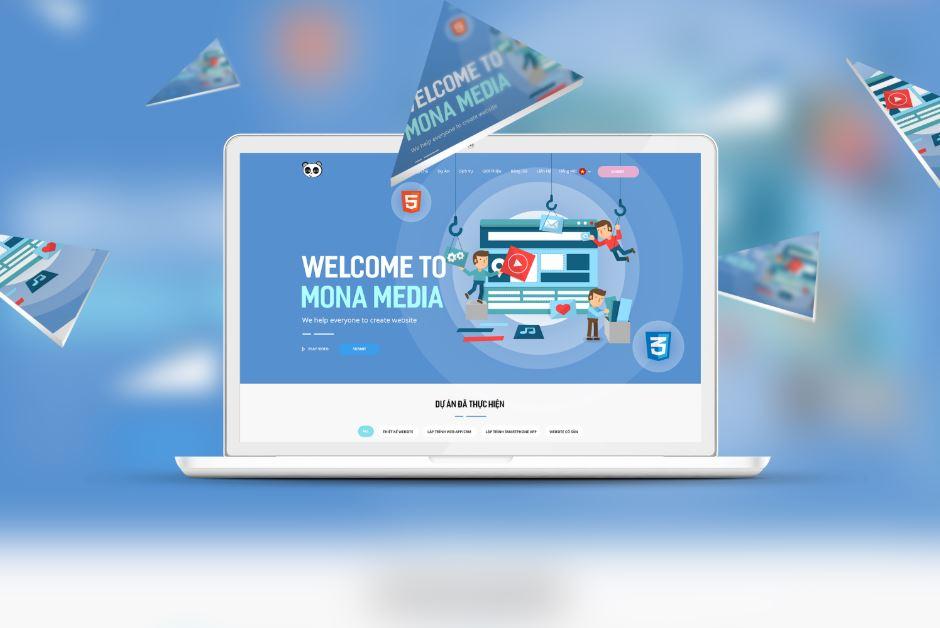 Dịch vụ thiết kế website giá rẻ tại Mona Media.