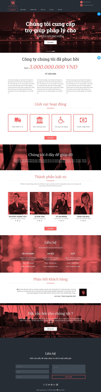 Mẫu website dịch vụ luật sư giống Lawyers