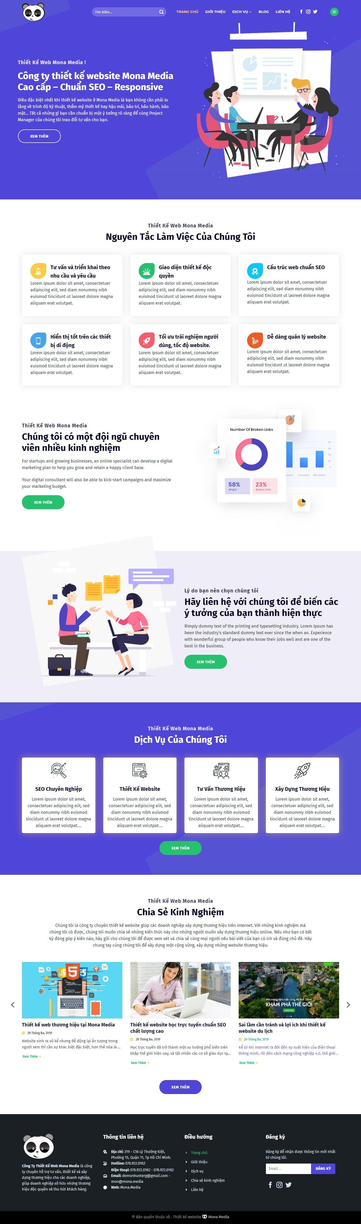 Mẫu website giới thiệu công ty lập trình web