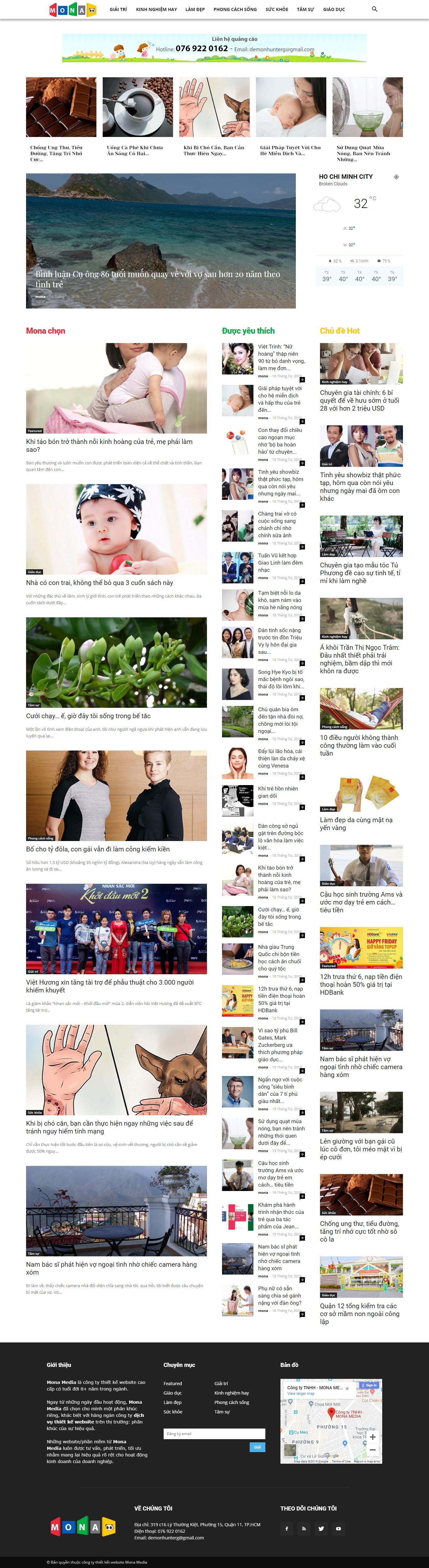 Mẫu website diễn đàn tin tức trực tuyến giao diện