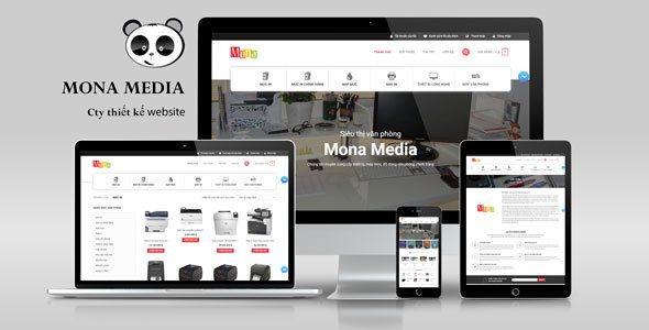 Mẫu website văn phòng phẩm giống Vmax.