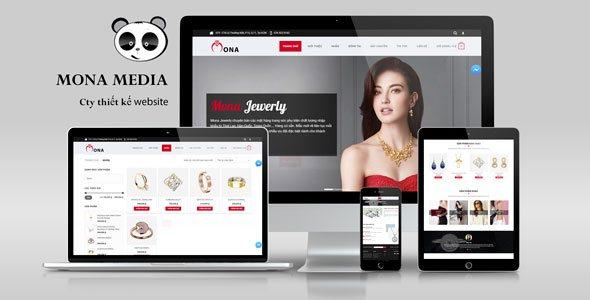 Mẫu website bán trang sức cao cấp.