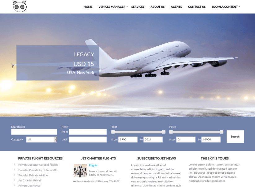 Tính năng cho website bán vé máy bay