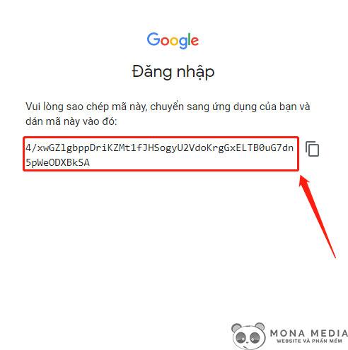 Đoạn mã Google cấp