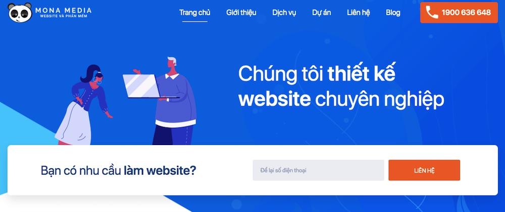 Mona Media - công ty thiết kế website Cần thơ uy tín