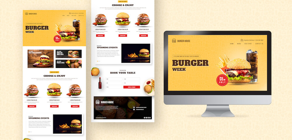 Restaurant website design package at Mona Media