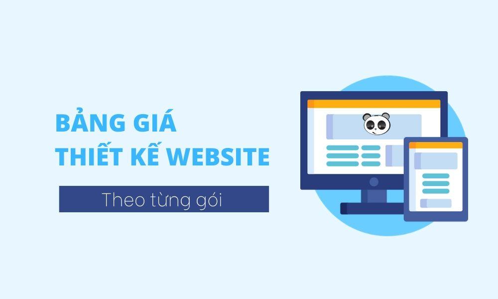Bảng giá thiết kế website theo gói tại Mona Media