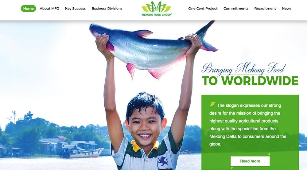 Thiết kế website thủy sản Mekong Food Group