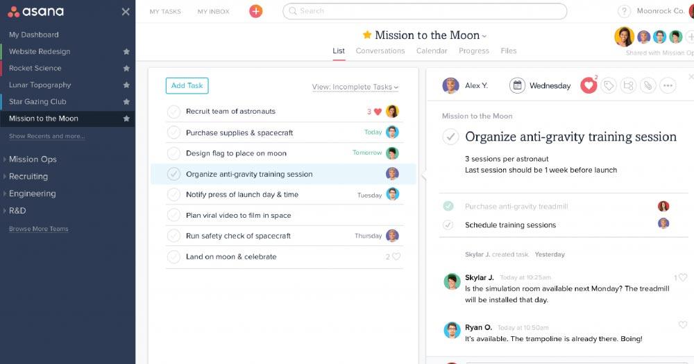 Asana- Phần mềm quản lý công việc