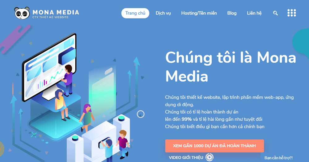 Thiết kế website thương mại điện tử tại Mona Media