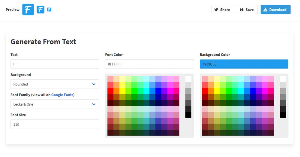 Công cụ tạo favicon website