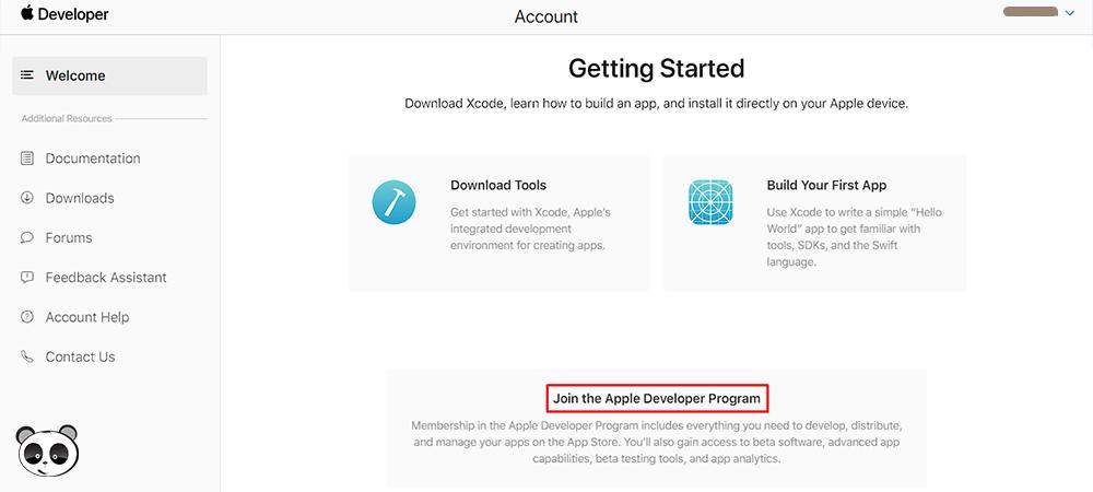 Click Join the Apple Developer Program