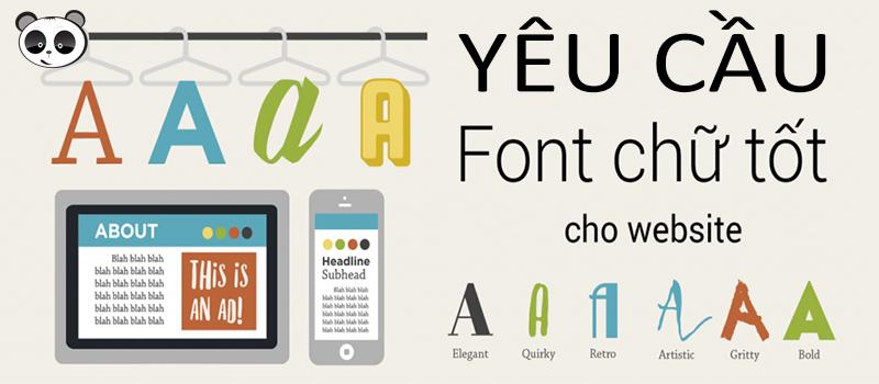 Yêu cầu font chữ trong thiết kế website