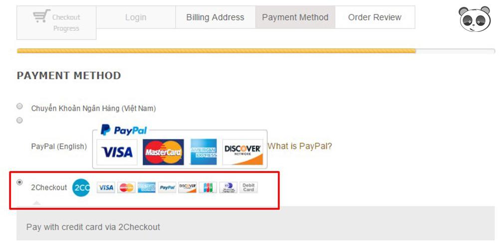 Sử dụng 2Checkout để thanh toán trực tiếp qua Visa