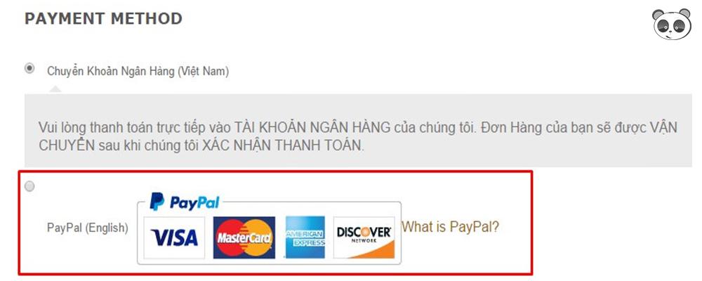 Plugin cài đặt thanh toán Paypal có sử dụng Visa
