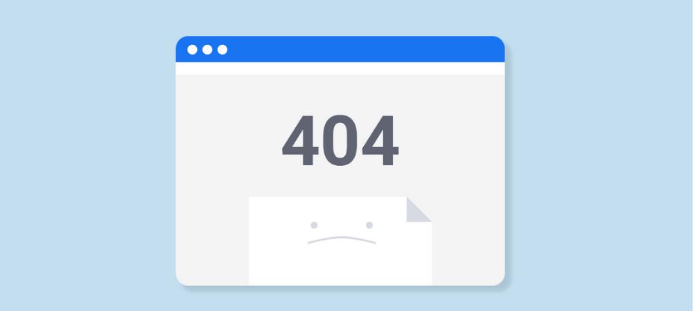 lỗi 404 error