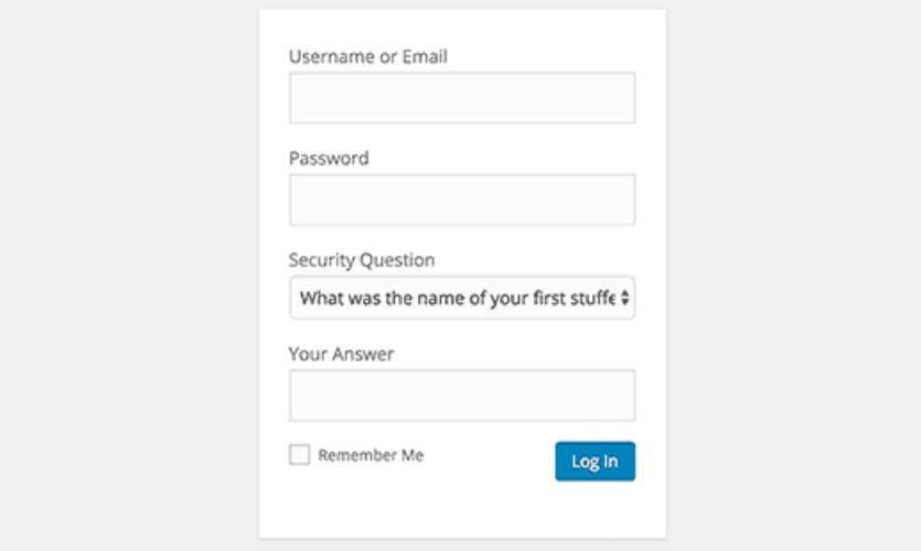 giao diện đăng nhập wordpress