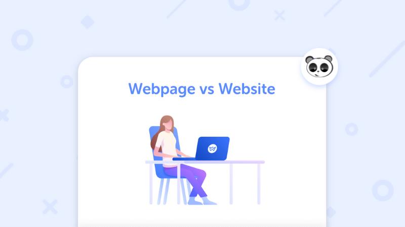 web page vs website